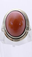 echte rote KORALLE undyed Coral RING 585 Gold 14K ART DECO Korallenring