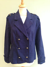 JACKET SIZE 8 MILITARY STYLE BY ACTIVE WEAR DOUBLE BREASTED NAVY BLUE BNWT