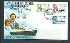 SEYCHELLES Diane and Charles Royal Wedding First Day Cover 4 MNH