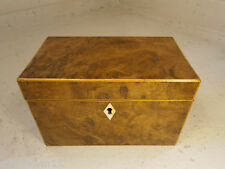 Antique , Georgian Yew Tea Caddy Box   0107