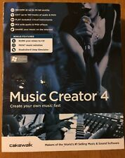 Cakewalk Music Creator 4 PC Computer Software Program W/Box
