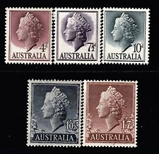 1955-7 2nd QUEEN ELIZABETH II PRE-DECIMAL STAMP SET - FRESH MUH