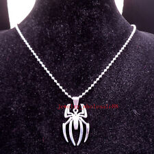 New List Men's Gift Large spider-man Pendant Stainless Steel Necklace Chain 24''