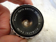 Very rare MEYER-OPTIK GÖRLITZ lens PRIMOTAR 2.8/50 M42 50mm 1:2.8 F2.8