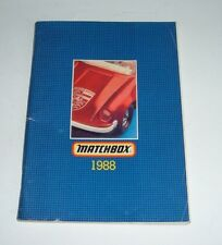 Matchbox Toys, Catalogue Dated 1988, - Superb