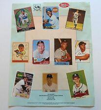 Vintage Baseball Card Print Sports Collector's Convention Mays, DiMaggio, Aaron