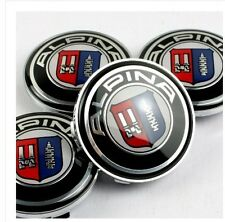 x4 ALPINA Alloy Wheel Badges Center HUB Caps 68mm BMW E36 E39 E46 E60 F01 F10 X5