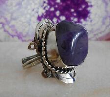 Ring Alpaka Silber Achat lila violett Stein Ethno Inka Maya Indianer Stil 05