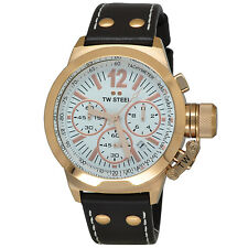 TW Steel Men's CE1019 CEO Canteen Chronograph White Dial Rose Gold-Tone Watch