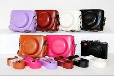 Leather Camera Case Bag For Panasonic LUMIX LX7 DMC-LX7GK LX3 LX5