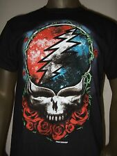 Nwt Mens Small Black The Grateful Dead Skull & Roses Graphic Logo Band Tee Shirt