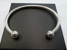 New Heavy Solid Sterling Silver.925 Gent's Torque Bangle 31 grams