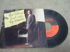 """PHIL COLLINS- DON'T LOSE MY NUMBER/ WE SAID HELLO GOODBYE   7"""" LP"""