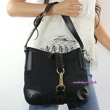 NWT Coach Hamptons Signature Buckle Hobo Shoulder Bag Purse 11058 Black NEW RARE