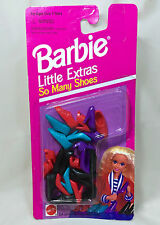 """Vintage 1994 """"Barbie Little Extras-So Many Shoes"""" Complete Pack 12pairs of shoes"""