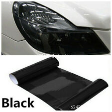 "12""*40"" Dark Black Car Tail Light Tint Vinyl Film Cover Decal For Honda Civic"