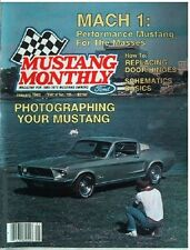 (Ford) Mustang Monthly January 1982--1966 convt, 1969,1970,1971,1972,1973 Mach I