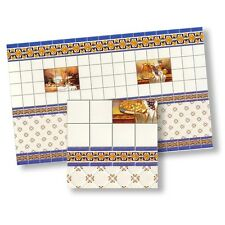 Dolls House Dollhouse 1:12 Miniature 1 Mediterranean Wall Tile Sheet Wallpaper