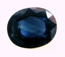 3.77 Carats Natural Loose Gem  Australian Oval Blue Sapphire  10.8x8.8x4.6  MM