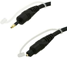 6ft Toslink to Mini Plug 3.5mm Digital Optical Audio Cable SPDIF Optic Fiber