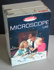Vintage SKIL CRAFT KIDS MICROSCOPE Science LAB BOX ONLY  FREE SH