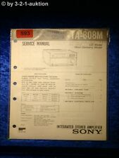 Sony Service Manual TA 808M Amplifier  (#0593)