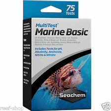 Seachem MultiTest Marine Basic Test Kit pH Alkalinity Ammonia Nitrite Nitrate