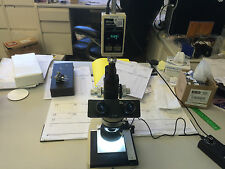 Unitron 165X Microscope with Mitutoyo Digimatic Indicator for Depth Measurements