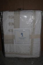 NWT Pottery Barn Kids Embroidered FQ duvet cover gold full queen f/q