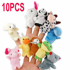 10 X FARM ZOO ANIMAL FINGER PUPPETS TOYS BOYS GIRLS BABYS PARTY BAG FILLER ZOO