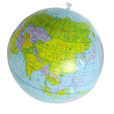 Inflatable Globe Education Geography Toy Map Balloon Beach Ball 40cm GFY