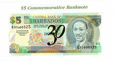 Barbados … P-65A … 5 Dollars … 2002 … *UNC*  Commemorative  W/Folder.