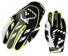 GUANTI GLOVES MOTO ENDURO CROSS ACERBIS MX1 GIALLO YELLOW NEON NERO TG M