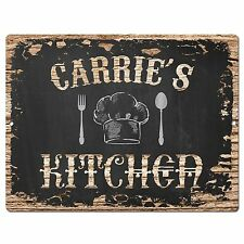 PP1960 CARRIE'S KITCHEN Plate Chic Sign Home Room Kitchen Decor Birthday Gift