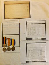 Military QSA Queens South Africa Medal 4 Bars WW1 Pair Seaforth Highlander (2903