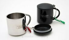Camping Stainless Steel Mug Tea Coffee Cup 110ml with Carabiner Hiking Travel