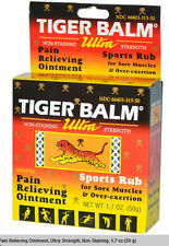 Tiger Balm Ultra Strength Pain Relieving 50 mg - 1.7 OZ : 3 packs