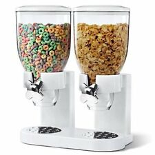 DOUBLE CLEAR PASTA CEREAL DISPENSER DRY FOOD STORAGE CONTAINER DISPENSE MACHINE