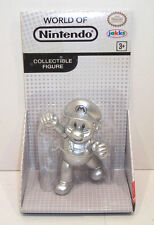 World of Nintendo METAL MARIO Action Figure SEALED Jakks Pacific 2.5 Inch Silver