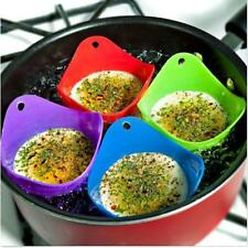 4pcs Silicone Egg Poacher Cook Poach Pods Kitchen Baking Cup Cookware Poached