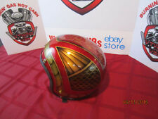 Vintage Custom Painted Helmet Feauturing Lace, Fades, Fish Scales & Hand Striped