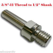 "Core Drill Bit Adapter 5/8""-11  UNC Thread Male to 1/2"" Shank Diamond Power"
