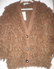 Stella Mccartney Light Brown Fringed Chunky Knit Cardigan SZ 40 = Fits US S-M