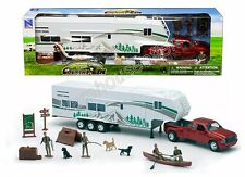 NEWRAY COUNTRY LIFE - PICKUP TRUCK WITH CAMPER PLAY SET 1:32 Diecast Toy Car