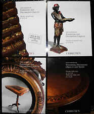Christies catalogue - x4, furniture and decorative objects, silver  f109