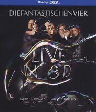 """DIE FANTASTISCHEN VIER """"LIVE IN 3D"""" BLU RAY NEU"""