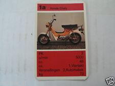 13 MOPEDS/MOTO LIGHT 1A HONDA CHALY KWARTET KAART, QUARTETT CARD