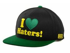 DGK Dirty Ghetto Kids I Heart Haters Snapback Mens Black Green Hat New NWT
