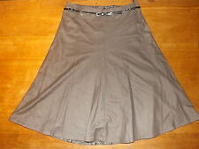 """New Ex-M&S Ladies Dark Taupe Lined Wool A Line Skirt Sz 12 Length 30"""" (£49.50)"""