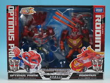 Transformers Animated TA Optimus Prime & Rodimus Action Figure Takara Tomy